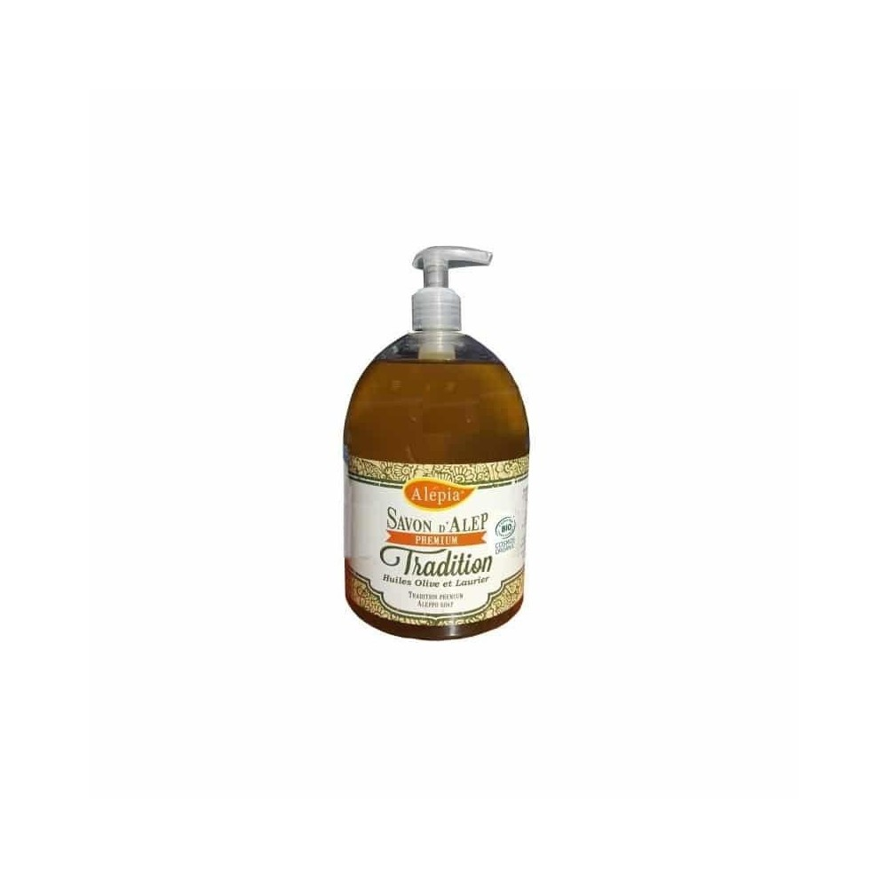 Savon d'Alep liquide – Premium tradition Bio – Alepia