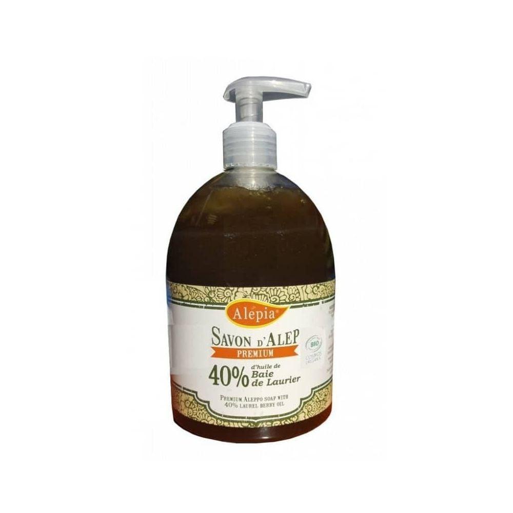 Savon d'Alep liquide – Premium 40% laurier Bio – Alepia