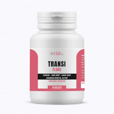 TransiFlore – Charbon végétal, fenouil, anis vert et carvi noir – Anti-ballonnements – FADI