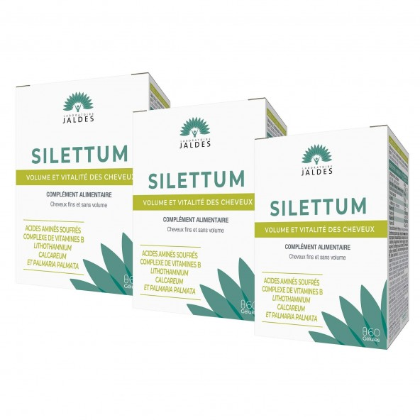 Silettum Gel – Lot 2+1 offert Fourreau (180 Gélules) – Jaldes