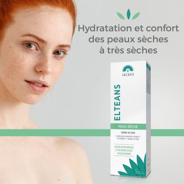 Elteans Crème – Tube de 50 ml – Visage et Corps – Jaldes