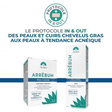 Arrêbum – 60 Comprimés – Peau et Cuir chevelu gras – Jaldes