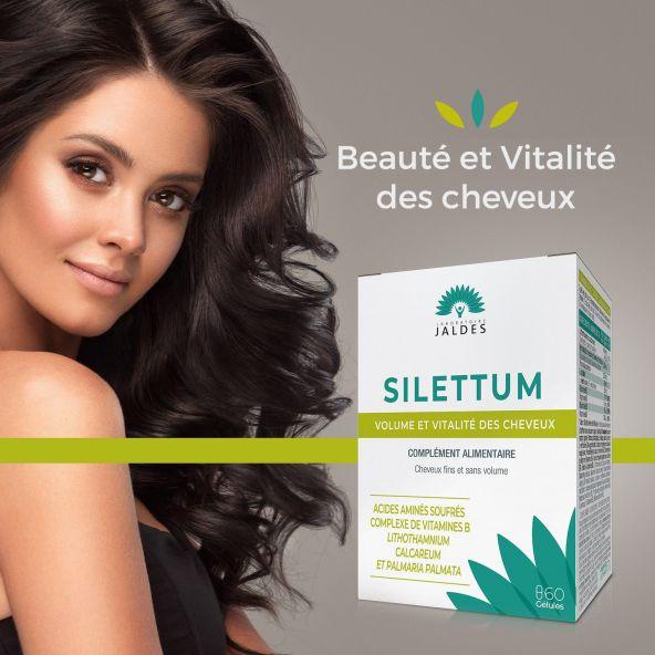 Silettum - 60 Gélules - Beauté et Vitalité des cheveux Jaldes - 2