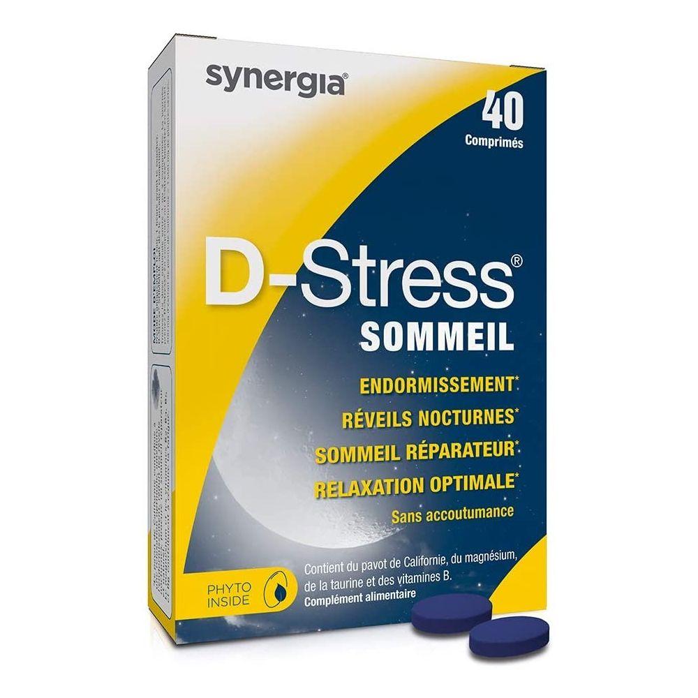 D-Stress Sommeil – 40 Comprimés - Agit contre les réveils nocturnes Synergia - 1