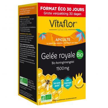 Gelée Royale Bio 1500 mg – 30 Ampoules - Pack Eco 30 jours Vitaflor - 1