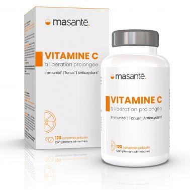 Vitamine C à libération prolongée - 120 comprimés - Immunité, Tonus, Antioxydant Ma Santé - 1