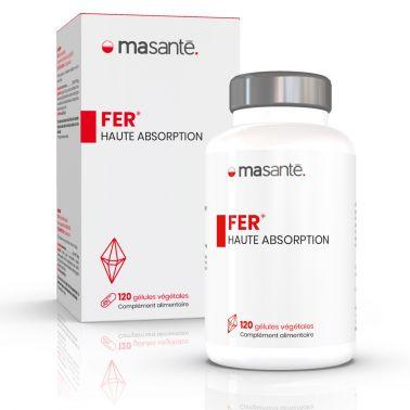 Fer 120 gélules végétales - Haute Absorption - Métabolisme énergétique et réduction de la fatigue Ma Santé - 1