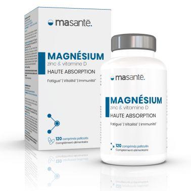 Magnésium 120 comprimés - Haute Absorption - Triple Action: Réduire la Fatigue - Vitalité - Immunité Ma Santé - 1